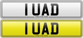 1 UAD number plate
