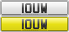 1 OUW Number plates