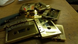 10 x Gold cassettes C30 with scratches