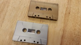 Antique gold silver cassette tape