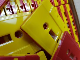 Red + yellow with windows