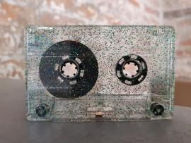 Gold/Green/Blue Glitter Cassette