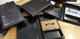 Single Black cassette wallet case