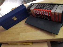 Vintage vinyl cassette carry case