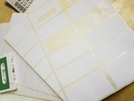 sheet white cassette labels 12