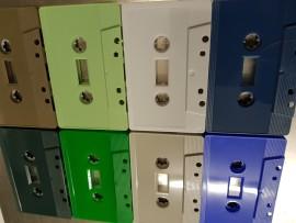 Coloured cassette housing