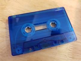 Blue clear transparent cassette