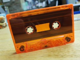 Orange clear transparent cassette