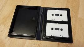 new 2 way black cassette cases