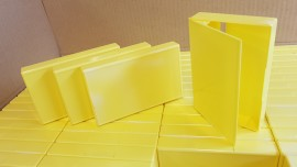Yellow front and back cases (recycled)