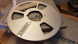 "Ampex 1/4"" spool reel + box"