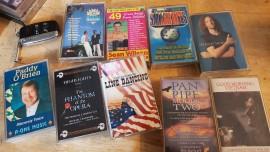 9 x unfashionable cassette tapes