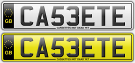 CA53ETE cassette style number plate