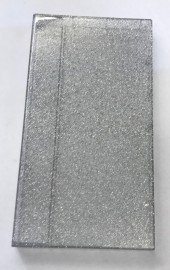 Silver Glitter Triple Case