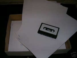 pack 100 sheets of white cassette labels