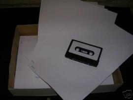 85 x sheets Audio cassette labels (1020 labels)