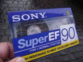 Sony Super EF 90 Blank Cassette