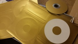 Gold CD labels